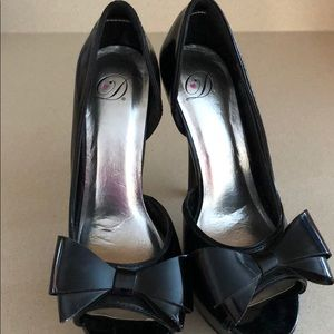 "Women's 5"" Heels-bow patent leather"